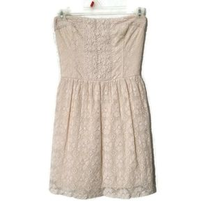 Abercrombie & Fitch lace design tube top dress